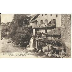 CPA: ALLEVARD-les-BAINS, Le Bréda, Vieux Moulin, années 1910