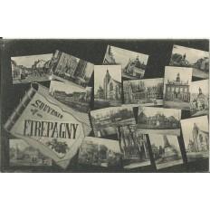 CPA - Souvenir d'ETREPAGNY - Années 1920