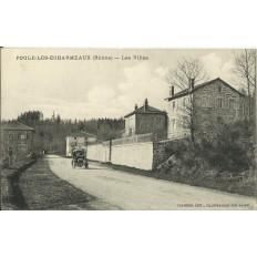 CPA - POULE-LES-ECHARMEAUX, Les Villas - Années 1910