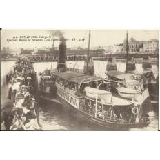 CPA - ROYAN, Départ du Bateau de Bordeaux- Années 1900