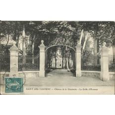 CPA: SAINT-LEU-TAVERNY, Chateau de la Chaumette, Grille d'Honneur, vers 1910