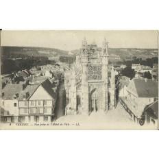 CPA: VERNON, Vue prise de l'Hotel de Ville, vers 1910