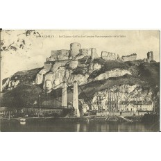 CPA: LES ANDELYS, Chateau Gaillard et Ancien Pont Suspendu, vers 1910