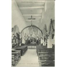 CPA: CHIGNY-les-ROSES, Intérieur de l'Eglise, vers 1900