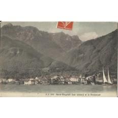 CPA: SAINT-GINGOLPH et le Grammont, vers 1900