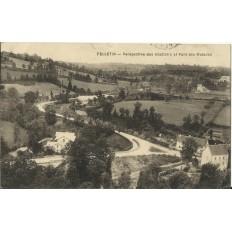 CPA: FELLETIN, Abattoirs et Pont des Malades, vers 1920