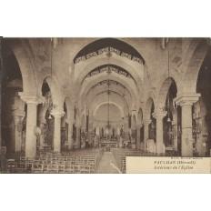 CPA: PAULHAN, Intérieur de l'Eglise, vers 1920