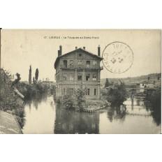 CPA: LISIEUX, La Touques au Camp Franc, vers 1920