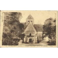 CPA: ROCHECORBON, L'Eglise, vers 1940