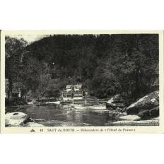 """CPA: SAUT du DOUBS, Débarcadère de l'""""Hotel de France"""", vers 1920"""