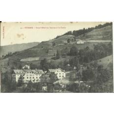 CPA: BUSSANG, Grand Hotel des Sources et le Charat, vers 1900