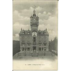 CPA: LOOS, l'Hotel de Ville, vers 1900