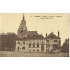 CPA - SUEVRES, Eglise, Mairie, Bureau de Poste - Années 1910