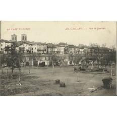 CPA - GRAULHET, Place du Jourdain - Années 1910