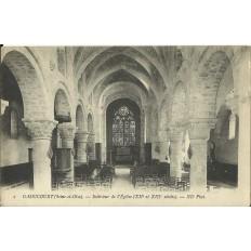 CPA - GASSICOURT, Intérieur de l'Eglise, Années 1910