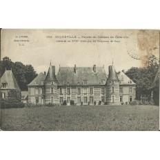 CPA - OCQUEVILLE, Façade du Chateau de Catteville, Années 1900