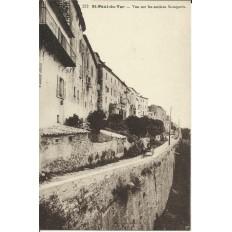 CPA: SAINT-PAUL du VAR, Vue sur les Anciens Remparts. Années 1900