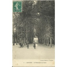 CPA: LOUVIERS, Le Boulevard du Nord. Années 1900