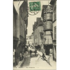 CPA: TROYES, Rue Champeaux. Années 1910