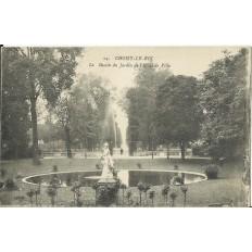 CPA: CHOISY-LE-ROI, Le bassin du Jardin de l'Hotel de Ville, vers 1910