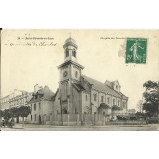 CPA: SAINT-GERMAIN-EN-LAYE, Chapelles des Franciscains, Années 1900