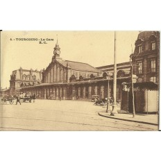 CPA: TOURCOING, La Gare, Années 1900