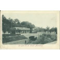 CPA: ST-CLOUD-MONTRETOUT, La Gare, Années 1900