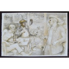Lucien-Philippe MORETTI (1922-2000) LITHOGRAPHIE, LE BISTROT.