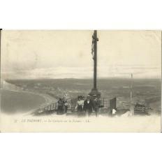 CPA: LE TREPORT, Le Calvaire sur la Falaise, Années 1900