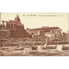 CPA: LE TREPORT,Vue prise du Pont Tournant, Années 1920