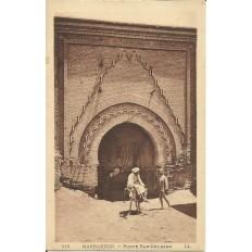 *CPA MAROC, ANNEES 1910, MARRAKECH, LA PORTE BAB-DELBAGH.