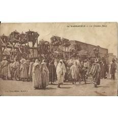 *CPA MAROC, ANNEES 1910, MARRAKECH, LES GRANDES-ROUES.