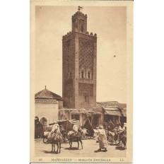 *CPA MAROC, ANNEES 1910, MARRAKECH, MOSQUEE BEN-SALAH.