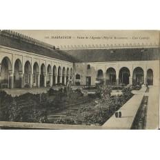*CPA MAROC, ANNEES 1910, MARRAKECH, PALAIS DE l' AGUEDAL (HOPITAL MAISONNAVE).