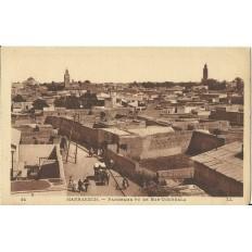 *CPA MAROC, ANNEES 1910, MARRAKECH, PANORAMA VU DE BAB-DOUKKALA.