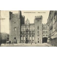 CPA: NARBONNE, L'HOTEL de VILLE, Animé, vers 1930
