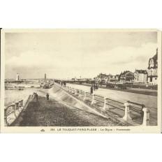 CPA: LE TOUQUET-PARIS-PLAGE, La Digue, Promenade, Années 1920.
