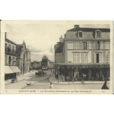 CPA: BAR-SUR-AUDE, Les Galeries Modernes et Rue Nationale, vers 1910