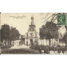 CPA: COGNAC, L'HOTEL de VILLE (Façade Principale), Animée, vers 1910