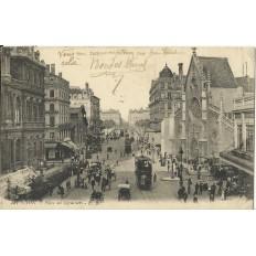 CPA: LYON, Place des Cordeliers, vers 1910.