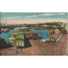 CPA: ROANNE, Port du Canal, années 1920.