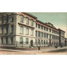 CPA: ROANNE, Ecole Professionnelle, Rue Carnot, années 1910