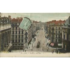 CPA: LYON, Rue de la République, vers 1920.
