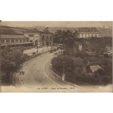 CPA: LYON, La Gare de Perrache , années 1900