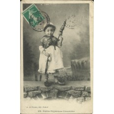 CPA: Petite Paysanne Creusoise, Années 1900.
