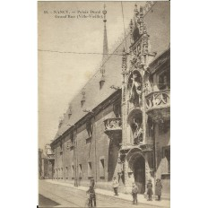 CPA: NANCY, Palais Ducal, Grand'Rue, Années 1900.