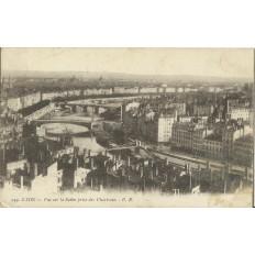CPA: LYON, Vue sur la Saone prise des Chartreux, années 1900