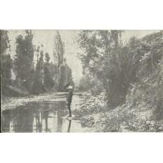 CPA: SAINT-GALMIER, Les Bords de la Coise, années 1900