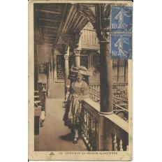 CPA: ALSACE, Intérieur de maison, vers 1920.