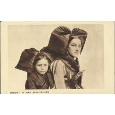 CPA: ALSACE, Jeunes Alsaciennes, vers 1930.
